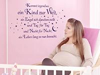 Baby Wandtattoo Kommt irgendwo.. im Kinderzimmer