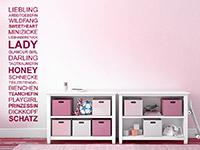 Wandtattoo Spruchband Mädchen im Kinderzimmer