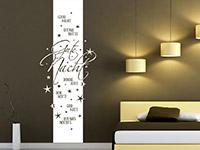 Gute Nacht Wandtattoo Banner im Schlafzimmer