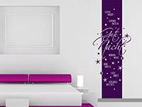 Wandtattoo Gute Nacht Banner auf heller Wandfläche