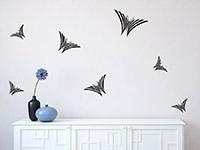Schmetterlinge Set Wandtattoo im Wohnzimmer