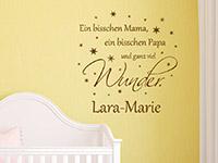 Mädchen Wandtattoo Ein bisschen Mama... mit Wunschname und Sternen