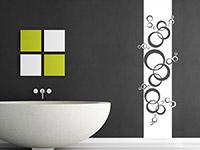 Banner Wandtattoo Retro Kreise im Badezimmer