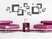 Retro Wandtattoo Cubes Ornament als dekorative Gestaltungsidee