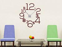 Wandtattoo Uhr Große Zahlen