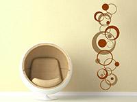 Retro Wandtattoo mit Design Kreisen als zweifarbige Wanddeko