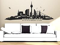 Skyline Wandtattoo Düsseldorf im Wohnzimmer