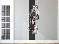 Fotorahmen Wandtattoo Banner als stylische Wanddekoration