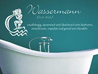 Wassermann Wandtattoo als Badezimmer Dekoration