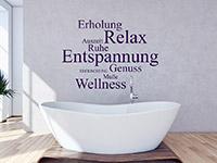 Wellness Wandtattoo Entspannung Relax