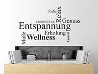 modernes Wellness Wandtattoo