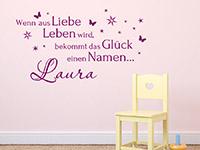 Baby Wandtattoo Wenn aus Liebe Leben wird... im Kinderzimmer
