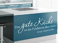 Wandtattoo Zitat Gute Küche... im Küchenbereich