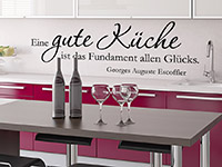 Wandtattoo Eine gute Küche... | Bild 4