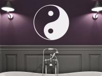 Chinesisches Yin und Yang Zeichen im Bad
