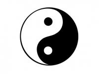 Wandtattoo Chinesisch Yin & Yang Motivansicht