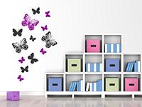 Wandtattoo Traumhafte Schmetterlinge im Kinderzimmer