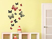 Schmetterlinge Wandtattoo auf heller Wandfläche