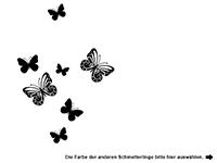 Wandtattoo Traumhafte Schmetterlinge Motivansicht