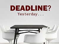 Deadline Wandtattoo im Büro