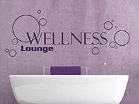 Entspannungs Lounge Wandtattoo über der Badewanne