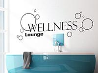 Lounge Wandtattoo mit Seifenblasen für das Bad