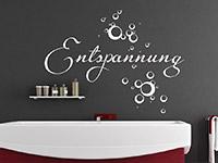 Entspannungs Wandtattoo über der Badewanne