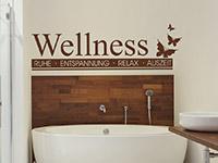 modernes Wellness Banner Wandtattoo mit Schmetterlingen