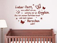 Lieber Gott Wandtattoo Spruch im Kinderzimmer