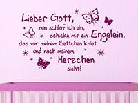 Sterne Wandtattoo Lieber Gott... mit dekorativen Schmetterlingen