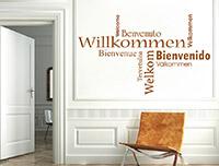 modernes Willkommen welcome Wandtattoo