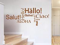Wandtattoo zur Begrüßung im Eingangsbereich