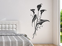 Calla Wandtattoo Blüten im Schlafzimmer