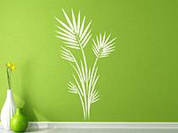 Wandtattoo Großer Blätterstrauch im Flur in weiß