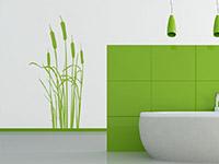 Wandtattoo Schilfgras in lindgrün im Badezimmer