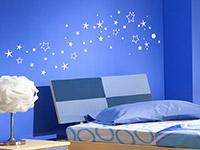 Wandtattoo Sternenhimmel im Kinderzimmer