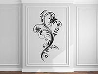 Wandtattoo Künstlerisches Ornament in schwarz im Flur