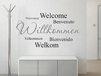 Wandtattoo Willkommen mehrsprachig | Bild 2