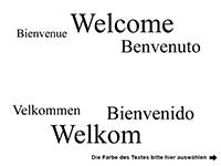 Wandtattoo Willkommen in verschiedenen Sprachen Motivansicht