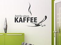 Wandtattoo Zeit für einen Kaffee