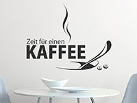 Kaffee Wandtattoo Zeit als dekorative Wandgestaltung