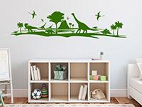 Dino Welt Wandtattoo im Kinderzimmer