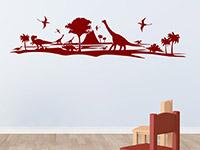 Dinowelt Wandtattoo auf heller Wandfläche