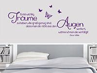 Zitat Wandtattoo Es ist wichtig Träume zu haben... im Schlafzimmer