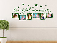 Fotorahmen Wandtattoo Memories auf heller Wandfläche