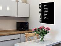Einkaufsliste Tafelfolie in der Küche