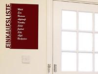 Tafelfolie Einkaufsliste in rot