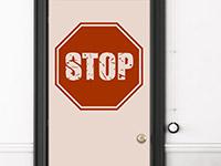 Wandtattoo Stop