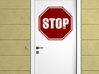 Tür Wandtattoo Stop in rot