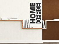 Home office Wandtattoo auf heller Wandfläche